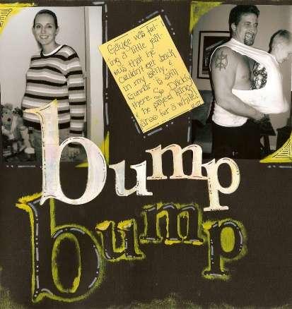 Bump Bump: December Color Challenge, Paint, Mask Challenge